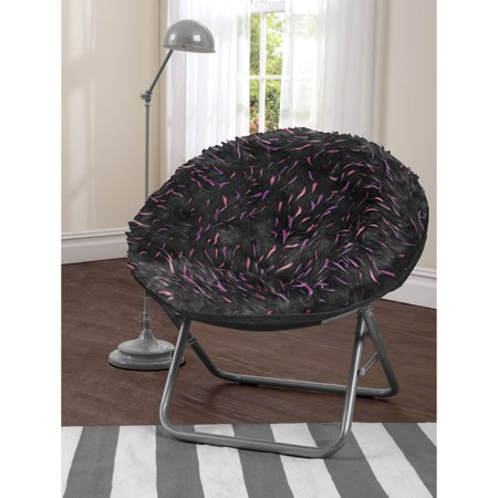 your zone spiker faux fur saucer chair, multiple colors