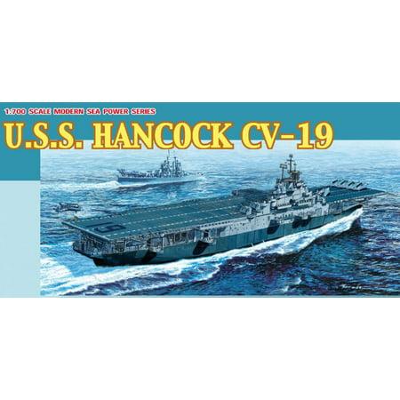 Dragon 7056 US Aircraft Carrier Hancock 1/700 Scale Plastic Model Kit ()