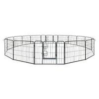 ALEKO Heavy Duty Pet Playpen Dog Kennel Pen Exercise Cage Fence, 16 Panel