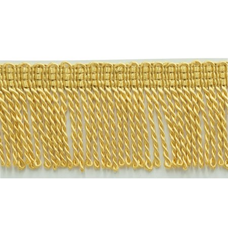 2 Inch Long LIGHT GOLD Thin Bullion Fringe Trim, Style# BFT2 Color: B7, Sold By the Yard