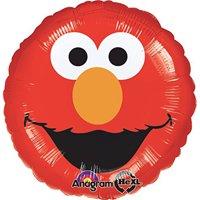 """Elmo Smiles Red Foil Balloon 18"""" ( Each )"""