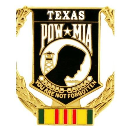 Pearl Wreath Pin (Vietnam POW Wreath Texas Pin 1 5/16
