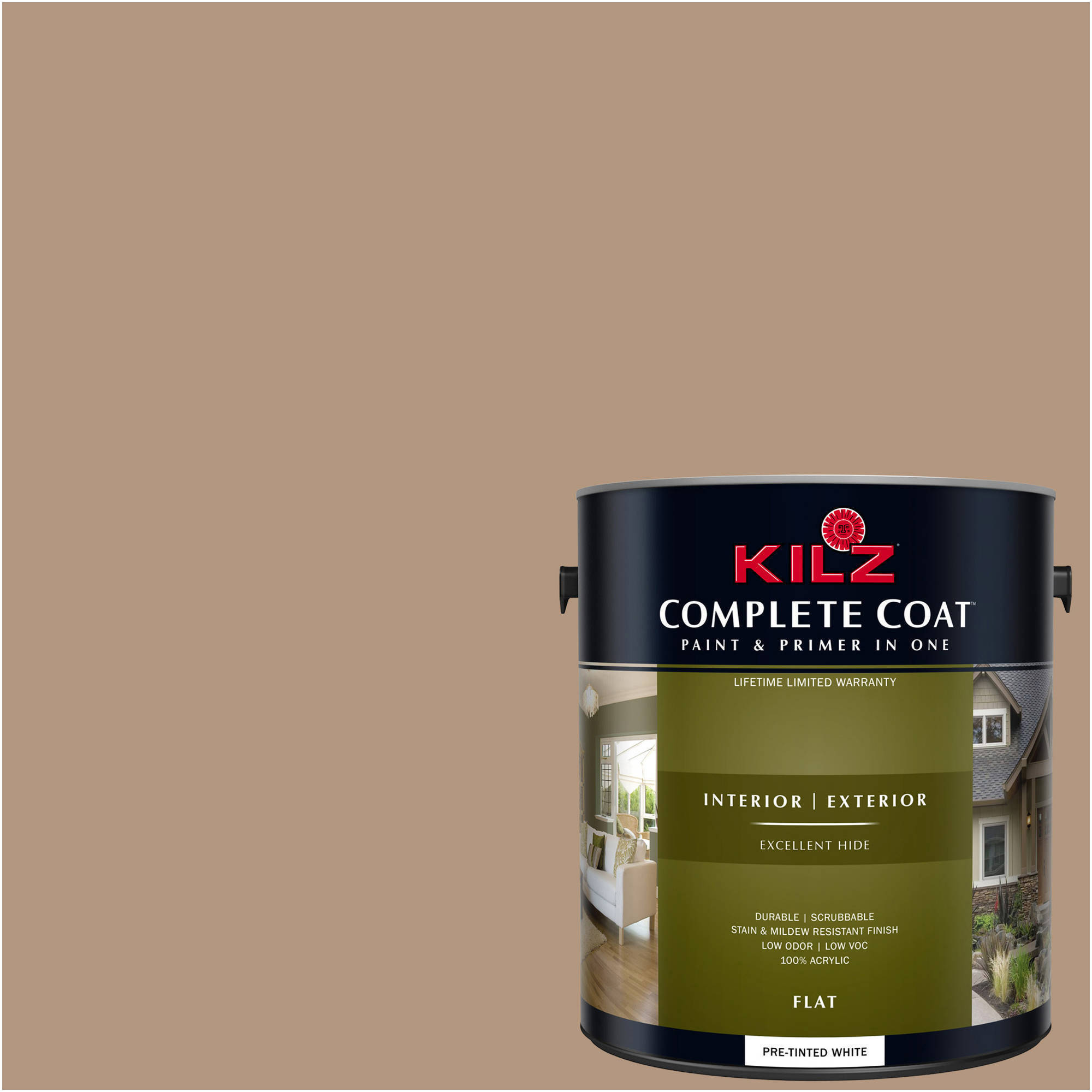 KILZ COMPLETE COAT Interior/Exterior Paint & Primer in One #LC250-01 Coffee Cake