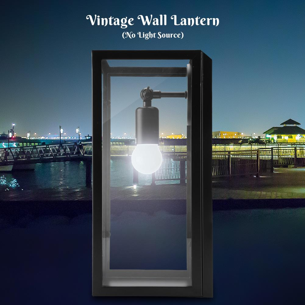 Yosoo Vintage Style Wall Lantern Lamp Holder Indoor Outdoor Home Garden Decoration No Light Source,Wall Lantern, Wall Lamp