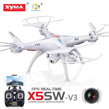 Cheerwing Syma X5SW-V3 FPV Explorers2 2.4Ghz 4CH 6-Axis Gyro RC Headless Quadcopter UFO with HD Wifi Camera (White)