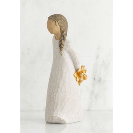 Willow Tree Just a Little Something For You Girl Holding Flowers Figurine 27672