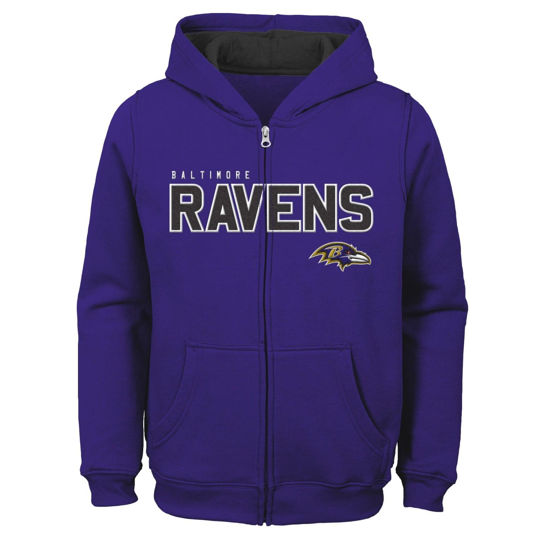 "Baltimore Ravens Youth NFL ""Game Stated"" Full Zip Hooded Sweatshirt"