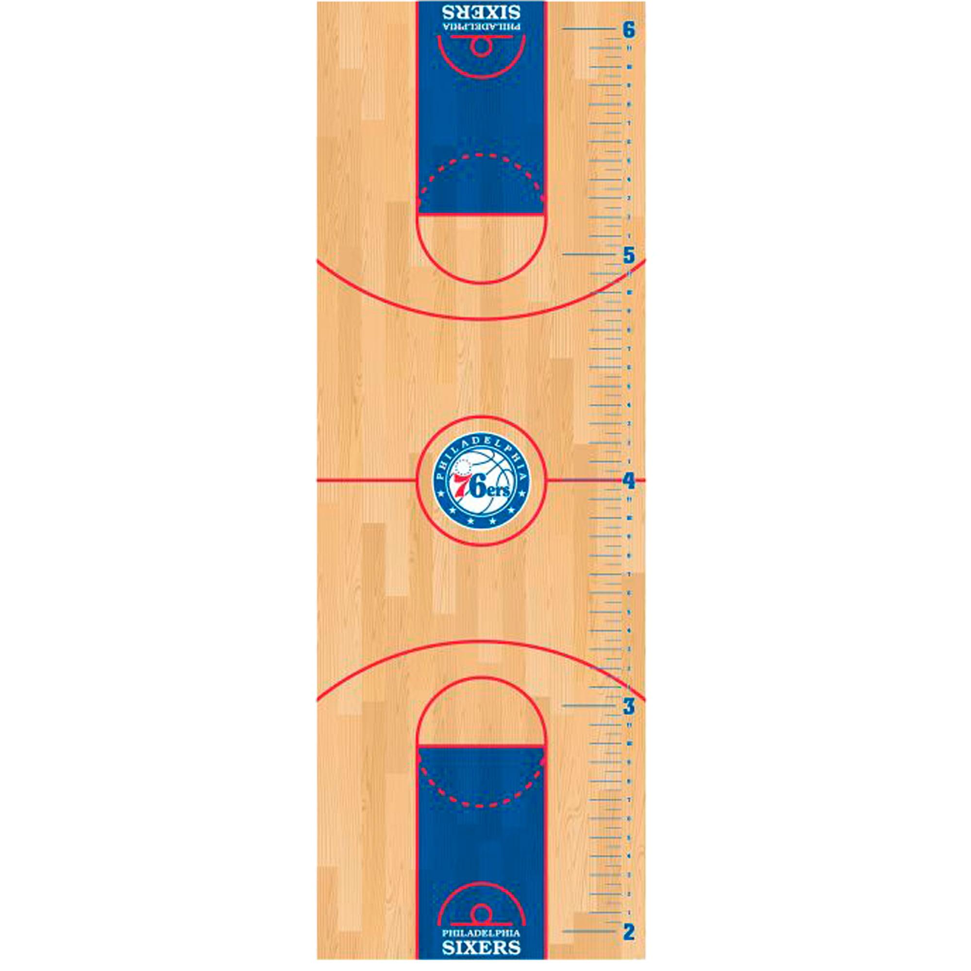Philadelphia 76ers Fathead Basketball Court Large Removable Growth Chart - No Size