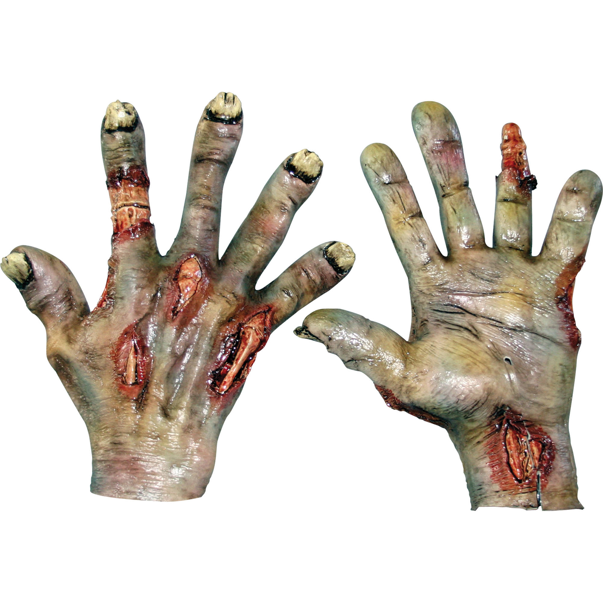 Rotted Zombie Latex Hands Adult Halloween Accessory
