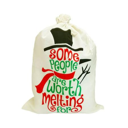 "1/2/4/5PCS Christmas Santa Sack XMAS Gift Sack Stocking Storage Burlap Bag 19.7X27.6"" thumbnail"