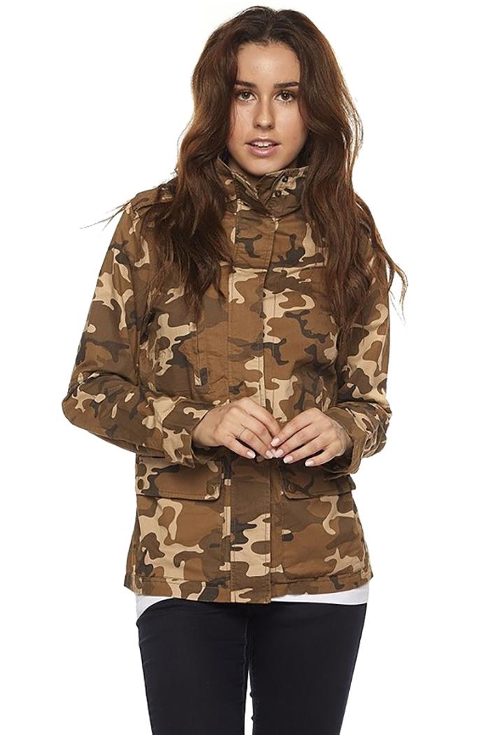 Trinity Kays Basics Junior's Light Weight Twill Military Jacket