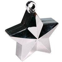 Star Balloon Weights Silver Package of 6