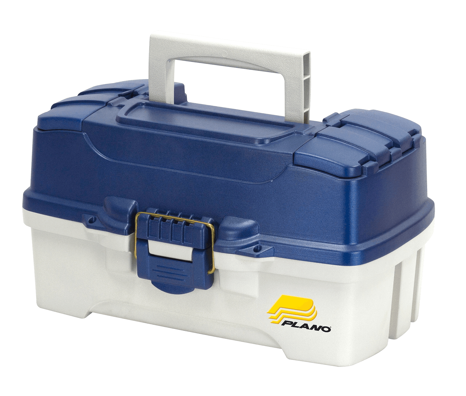 Plano Fishing Two Tray Tackle Box, Dual Top Access, Blue Metallic Off White by Plano