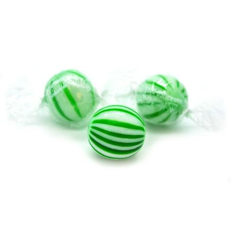 SweetGourmet Jumbo Spearmint Balls  Mint Hard Candy Bulk   Green and White  Kosher   15oz bag