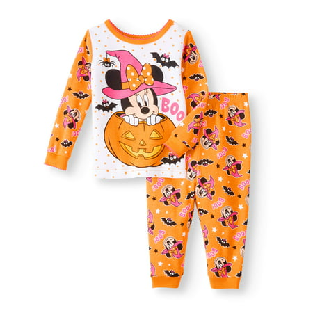 Glow In The Dark Girls Pajamas (Baby Girls' Halloween Glow-in-the-Dark Cotton Tight Fit Pajamas, 2-Piece)