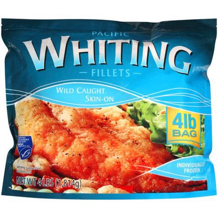 Pacific whiting fillets 4 lbs for Whiting fish picture