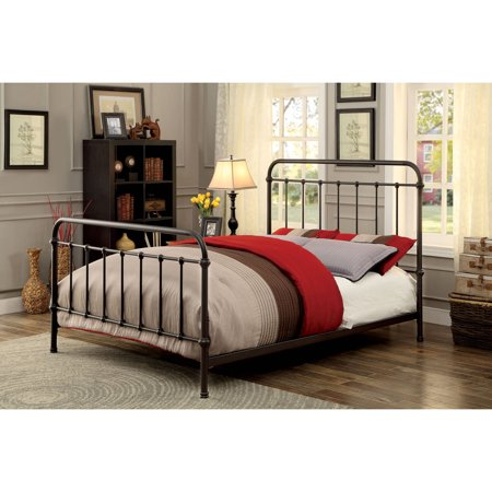Furniture of America Hastin Metal Bed, Multiple Colors, Multiple Sizes - Size Of America