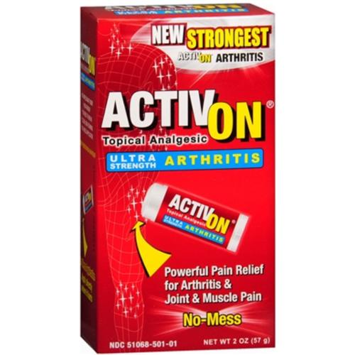 ActivOn Ultra Strength Arthritis Topical Analgesic 2 oz (Pack of 3)