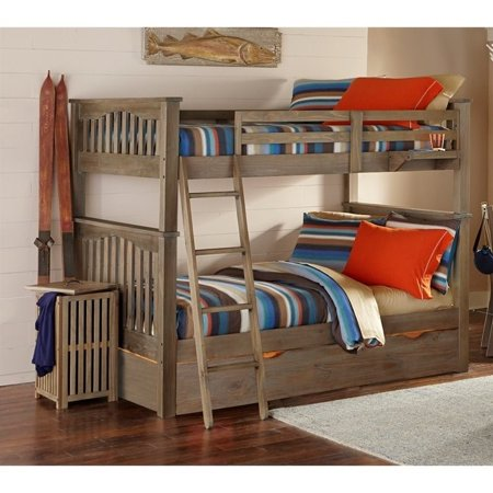 Ne Kids Full Over Full Bunk Trundle Driftwood
