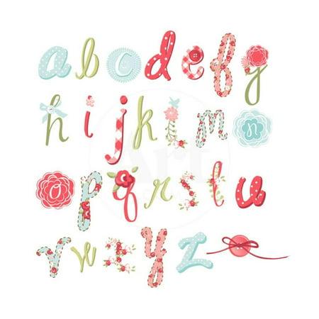 Unique Vector Flower Font. Amazing Hand Drawn Alphabet. Print Wall Art By Alisa Foytik](Flower Handprint)