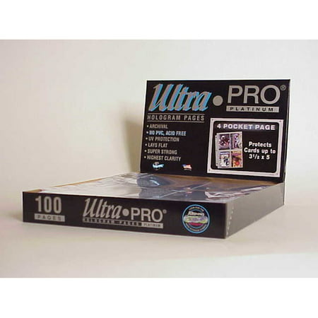 - Ultra Pro 3.5'' x 5'' Postcards Display Box (4 Pocket Pages)