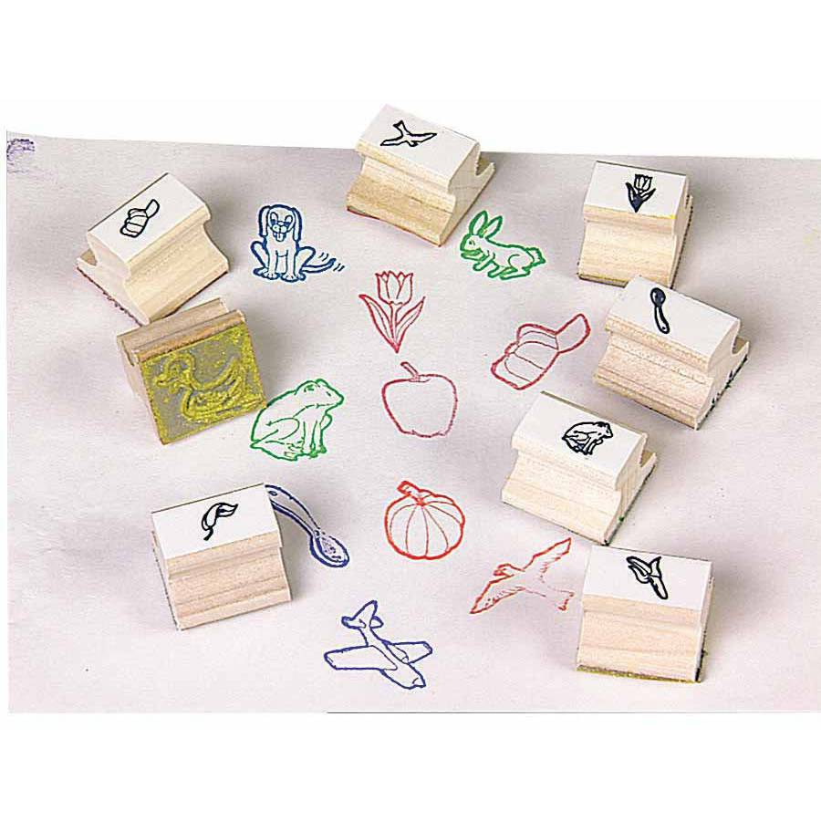 Center Enterprises Stamp Set, Visual Clues, Set of 28