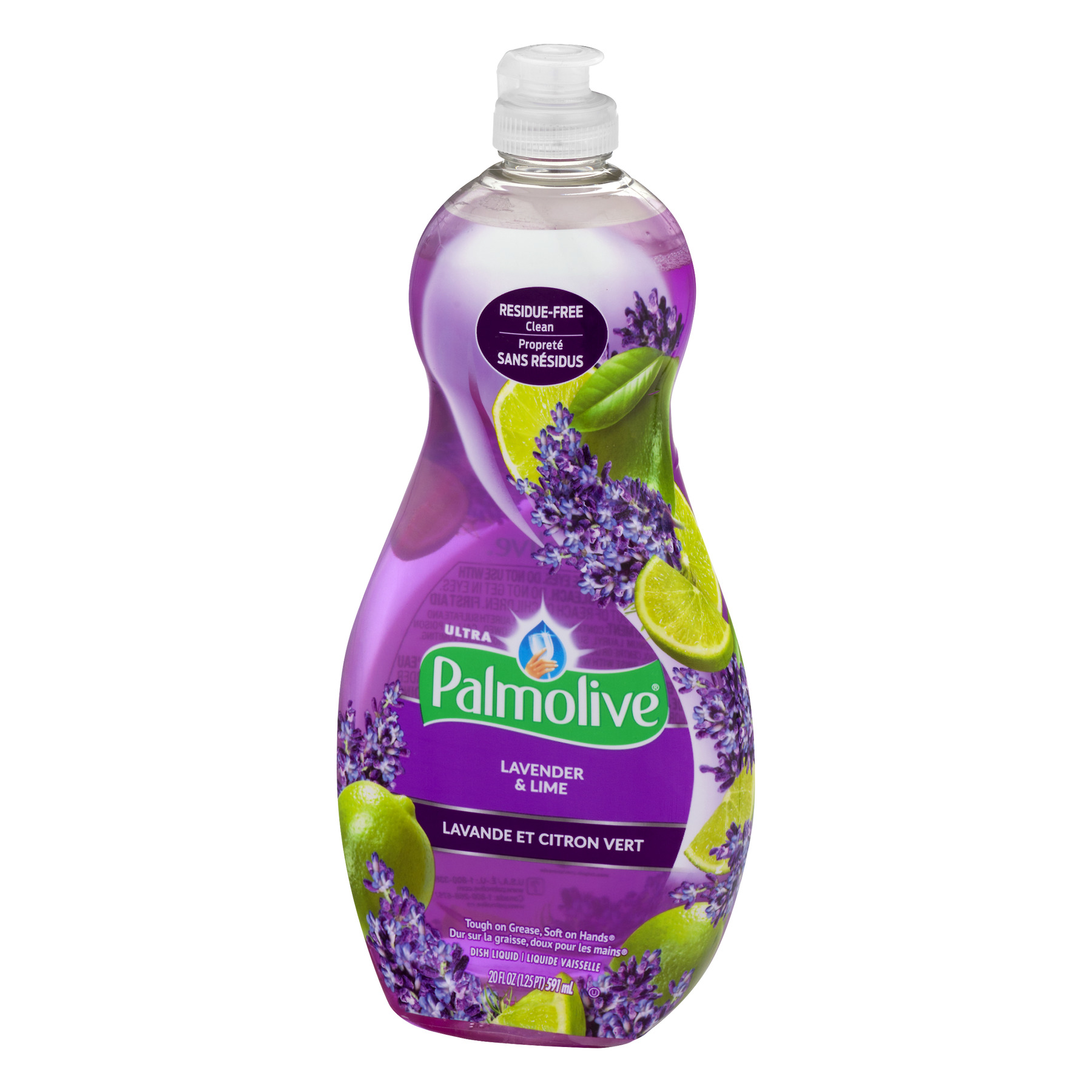 (4 pack) Palmolive Ultra Dishwashing Liquid Dish Soap, Lavender and Lime - 20 fluid ounce