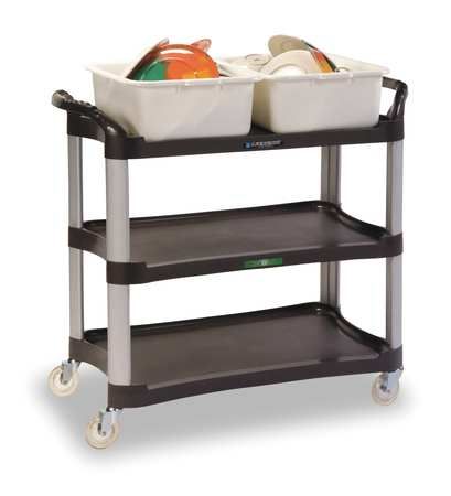 LAKESIDE 2512 Utility Cart,Charcoal,29 1/2 x 16 3/4