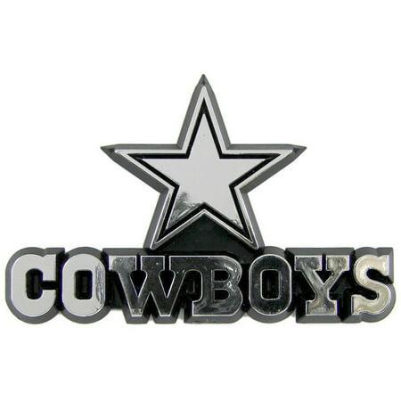 (NFL Dallas Cowboys Chrome Automobile Emblem - Generic Brand)