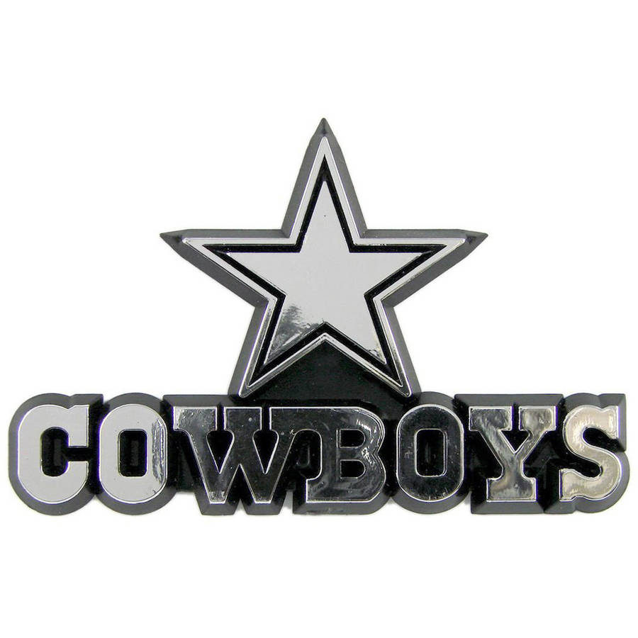 NFL Dallas Cowboys Chrome Automobile Emblem - Generic Brand