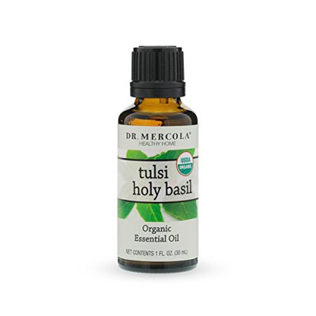 Organic Tulsi Holy Basil Essential Oil  1 Fl Oz Bottle