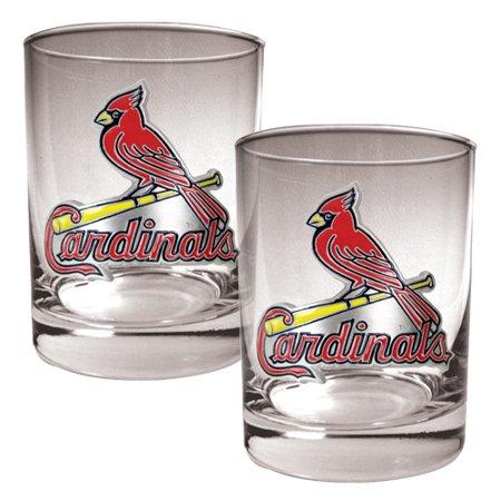 St. Louis Cardinals 14oz. Rocks Glass Set - No (Louis Blues Rocks Glass)