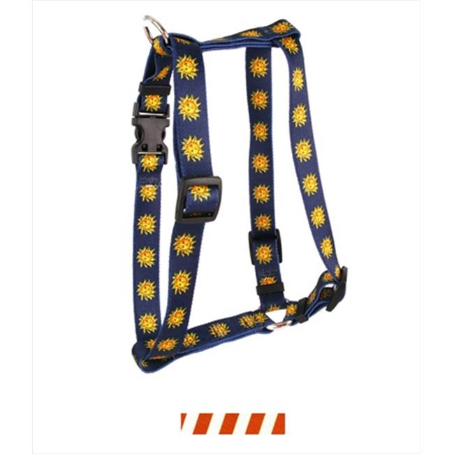 Yellow Dog Design H-TSRUW100XS Team Spirit Rust and White Roman Harness - Extra Small