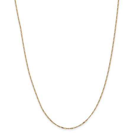 14K Yellow Gold 24In 1 25Mm Flat Figaro Necklace Chain