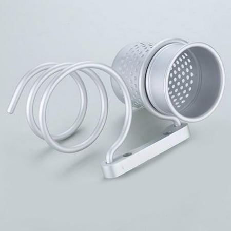 Bathroom Wall Mount Hair Dryer Holder Rack+Comb Storage Cutout Cup Organizer - image 3 de 8