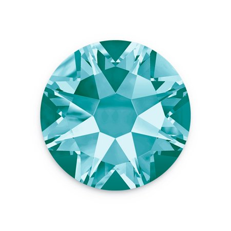 Swarovski Xilion Rose Flat Back Rhinestone 2058 7mm Light Turquoise (Package of 10)