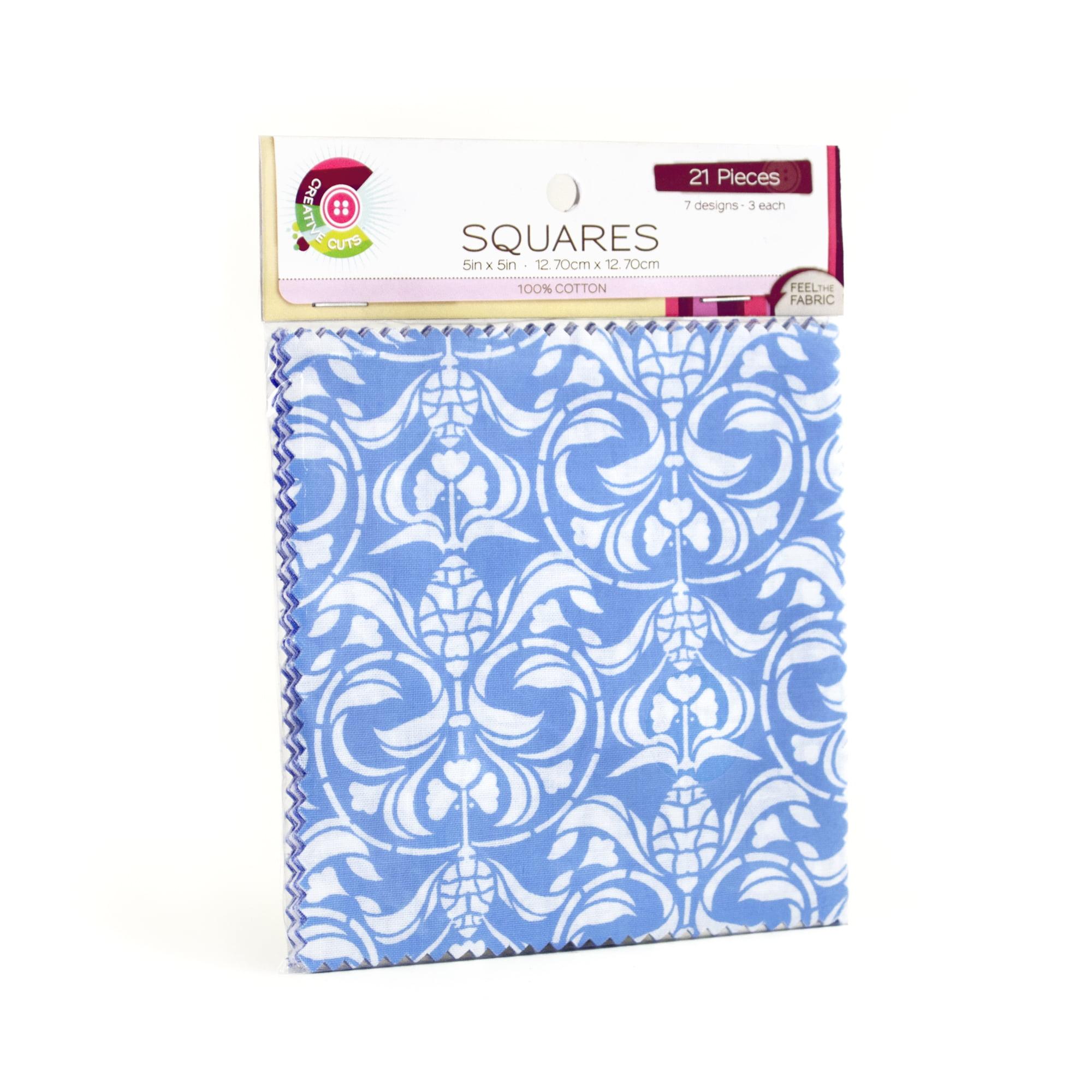 "Fabric Editions- Cotton Fabric, 5"" x 5"" Squares FARRINGTON ..."
