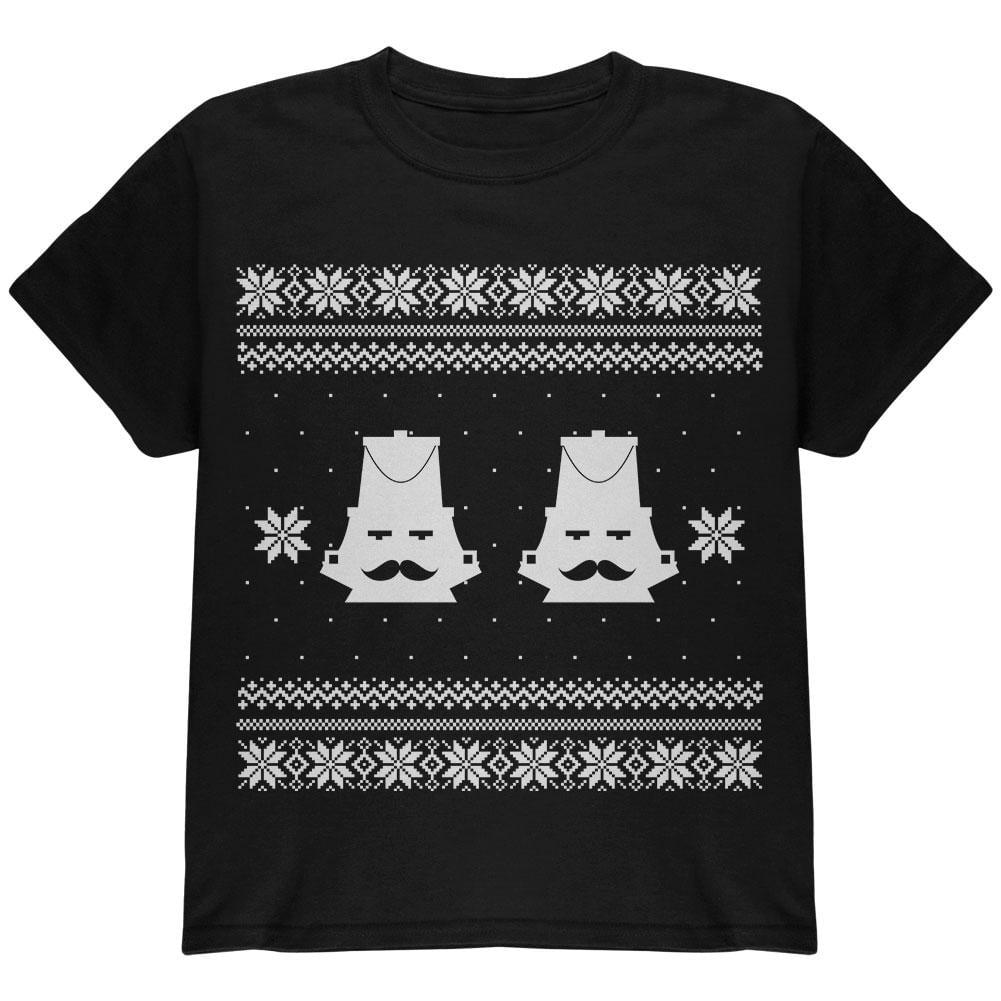 Nutcracker Ugly Sweater Black Youth T-Shirt