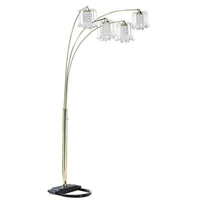 ore international 6966g floor lamp with crystal-like shad...