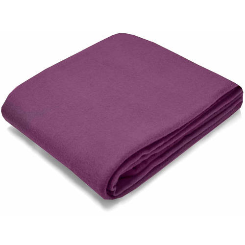 Mainstays Fleece Eggplant Throw