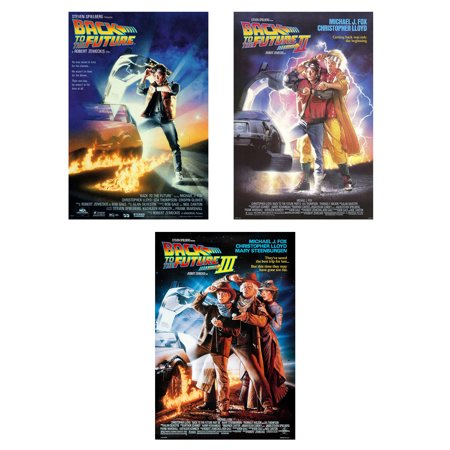- Back To The Future I, II, III - Movie Poster Set (3 Full Size Movie Posters) (Size: 27'' x 40'' each)