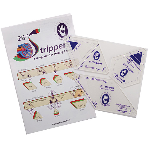 "2, 1/2"" Strippers Templates, 3 Templates For 7 Shapes"
