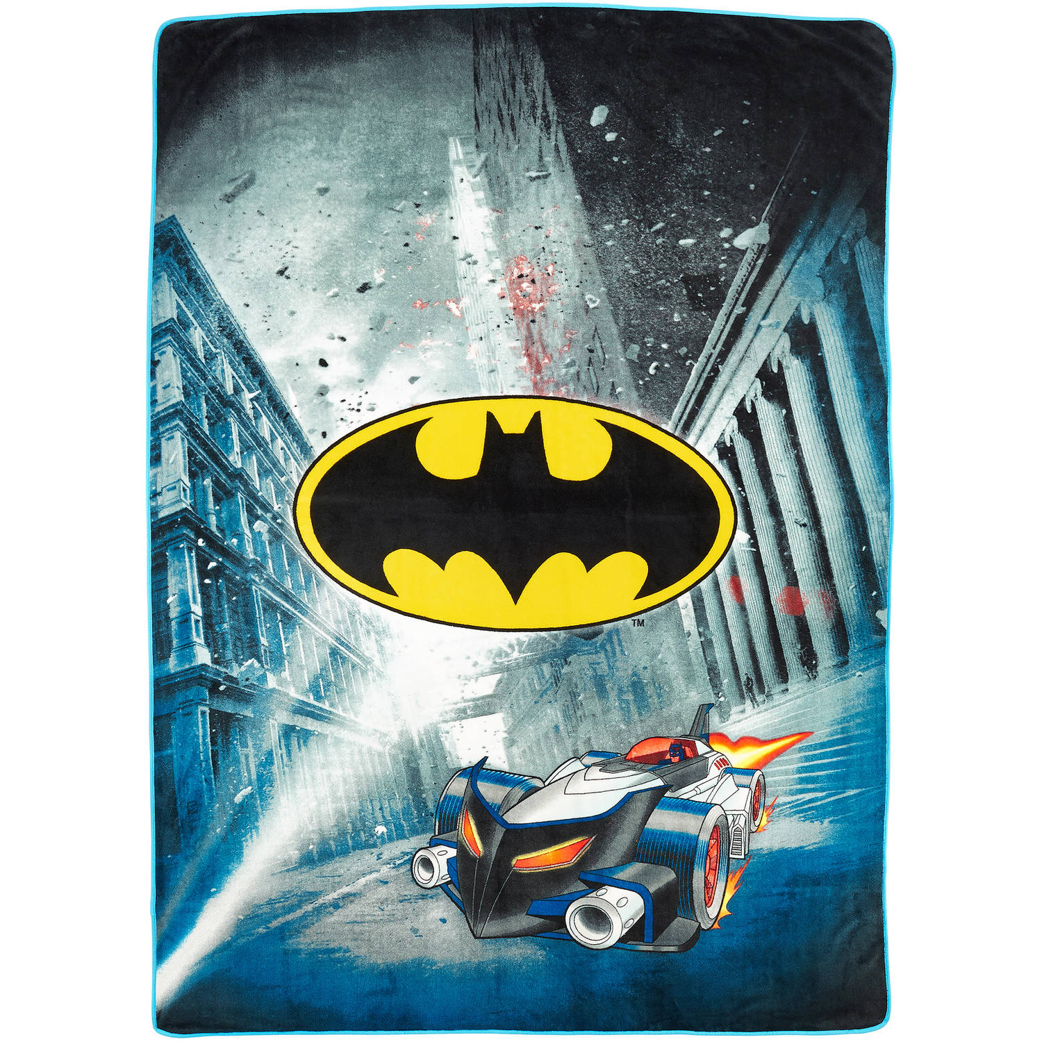 "DC Comics Batman City Safe 62"" x 90"" Kids Plush Blanket by Generic"
