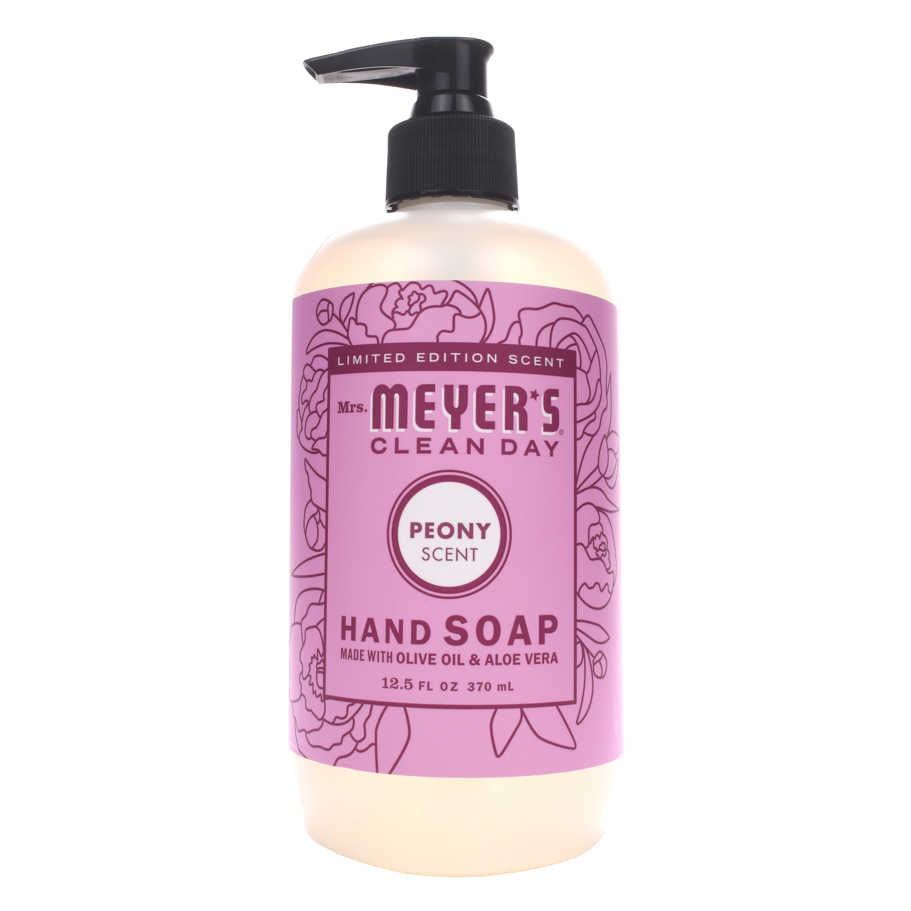 (3 pack) Mrs. Meyer's Clean Day Liquid Hand Soap, Peony, 12.5 Oz