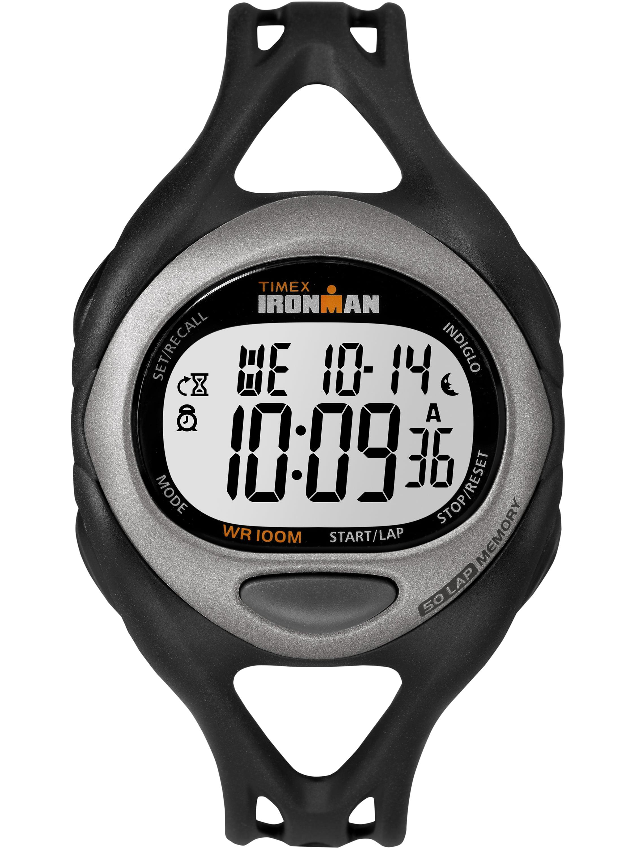 Timex Men's Ironman Sleek 50 Full-Size Watch, Black Resin Strap by Timex