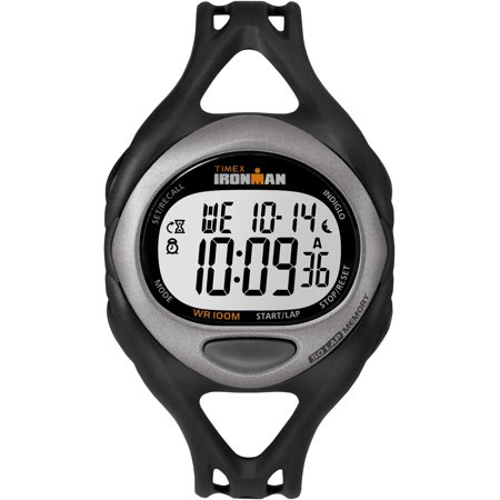 - Men's Ironman Sleek 50 Full-Size Watch, Black Resin Strap