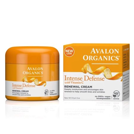 Avalon Organics Intense Defense Renewal Cream, 2 (Avalon Organics Coq10 Wrinkle Defense Serum)