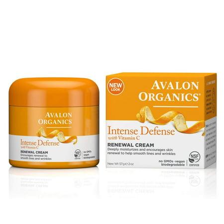 Avalon Organics Intense Defense Renewal Cream, 2 Ounce