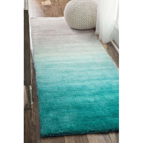nuLOOM Hand-Tufted Ombre Shag Area Rug or Runner