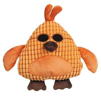 Grriggles Corduroy Cool Dudes Dog Toy - Orange Rooster One Size